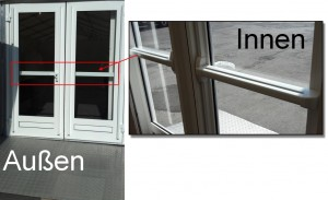 Tür mit Panikverschluss