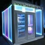 Pagode mit LED-Wänden