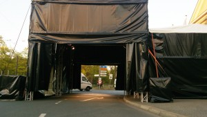 Traversendach Carport